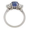2.15 ct. Round Cut 3 Stone Ring, Blue, Very Slightly Included #2