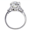 3.12 ct. Round Cut 3 Stone Ring #2