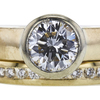 1.01 ct. Round Cut Bridal Set Ring, I, VS1 #4