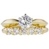 0.67 ct. Round Cut Bridal Set Ring, F, SI1 #3