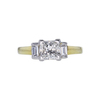 1.14 ct. Princess Cut 3 Stone Ring, H, SI1 #4