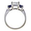 1.51 ct. Princess Cut 3 Stone Ring, F, VS2 #2