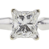 1.14 ct. Princess Cut Bridal Set Ring, F, VS2 #4