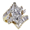 3.00 ct. Marquise Cut Central Cluster Ring #1