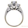 0.61 ct. Emerald Cut 3 Stone Ring, F-G, VS1-VS2 #3