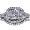 1.56 ct. Princess Cut Bridal Set Ring, H, I1 #3