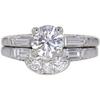 1.01 ct. Round Cut Bridal Set Ring, F, SI2 #3