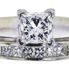 1.02 ct. Princess Cut Bridal Set Ring, E, VS2 #4