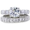 1.08 ct. Round Cut Bridal Set Ring, H, SI2 #3