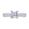 0.68 ct. Princess Cut Solitaire Ring, D, VVS2 #3