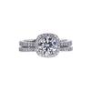 0.90 ct. Round Cut Bridal Set Ring, E, SI1 #3
