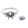 1.17 ct. Emerald Cut 3 Stone Ring, F, I1 #4