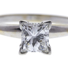 0.74 ct. Princess Cut Solitaire Ring, G-H, VS1 #1