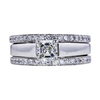 1.01 ct. Asscher Cut Bridal Set Ring, H, VS2 #3