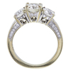 0.87 ct. Round Cut Bridal Set Ring, H-I, SI1 #3