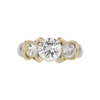 1.14 ct. Round Cut 3 Stone Ring, M, SI2 #3