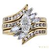 0.7 ct. Marquise Cut Bridal Set Ring, G-H, VS1-VS2 #2