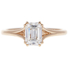 1.06 ct. Emerald Cut Solitaire Ring, F, VVS2 #3