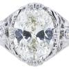 1.28 ct. Oval Cut Bridal Set Ring, K, VS1 #4