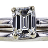 1.12 ct. Emerald Cut Bridal Set Ring, I, I1 #4