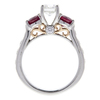 1.0 ct. Round Cut 3 Stone Ring, G, SI2 #3
