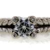 0.91 ct. Round Cut 3 Stone Ring #4