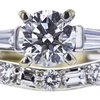 0.60 ct. Round Cut Bridal Set Ring, H, VS2 #4