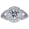 1.30 ct. Round Cut Halo Ring, K, SI1 #3