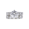 2.16 ct. Round Cut Bridal Set Ring, F, SI2 #3