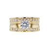 0.76 ct. Round Cut Bridal Set Ring, G, I1 #3