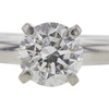 0.99 ct. Round Cut Solitaire Ring, F, I1 #4