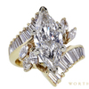 3.00 ct. Marquise Cut Central Cluster Ring, G, VS1 #3