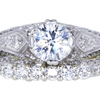 .93 ct. Round Cut Bridal Set Ring, G, SI1 #3