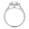1.03 ct. Round Cut Halo Ring, E, SI1 #4