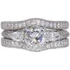 1.16 ct. Round Cut Bridal Set Ring, I, SI1 #3
