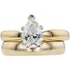 1.05 ct. Pear Cut Bridal Set Ring, H, SI1 #3