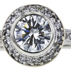 1.22 ct. Round Cut Halo Ring, J, SI2 #4