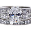 1.84 ct. Oval Cut Bridal Set Ring #1