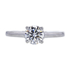 0.90 ct. Round Cut Solitaire Ring, H, VVS2 #3