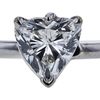 1.30 ct. Heart Cut Solitaire Ring, G, SI2 #2