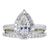 1.01 ct. Pear Cut Bridal Set Ring #3