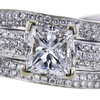 0.95 ct. Princess Cut Bridal Set Ring, F-G, SI2-I1 #1