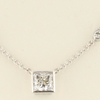 1.33 ct. Princess Cut Station Necklace #1