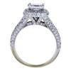 0.96 ct. Princess Cut Bridal Set Ring, G-H, SI1-SI2 #3