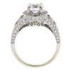 1.33 ct. Round Cut Halo Ring, E, SI1 #4