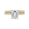 1.55 ct. Emerald Cut Bridal Set Ring, H, VVS2 #3