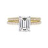 1.55 ct. Emerald Cut Bridal Set Ring, H, VVS2 #3