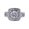 2.02 ct. Round Cut Halo Ring, J, SI2 #3