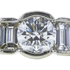 0.95 ct. Round Cut 3 Stone Ring, I-J, SI2-I1 #1