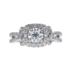 0.81 ct. Round Cut Halo Ring, F, SI2 #3